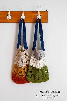 """""""작은 네트백"""" 보여드리고 패키지 문의도 계속 있는데요. ㅎㅎ 관심 가져 주셔서 감사합니다. 그래서 도안 ... Diy Crochet Bag, Crochet Clutch, Crochet Handbags, Crochet Purses, Knit Crochet, Crochet World, Diy Tote Bag, Cute Bags, Knitted Bags"""