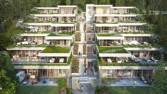 Architecture Building Design, Hotel Architecture, Modern Architecture House, Concept Architecture, Sustainable Architecture, Terrace House Exterior, Facade House, Terrace Building, Hillside House