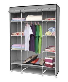 Love this Gray Storage Closet on #zulily! #zulilyfinds