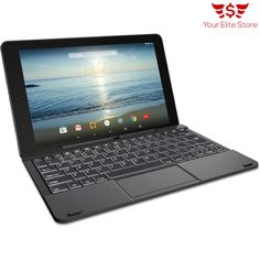 Intel Core 2 in 1 Tablet Laptop 10.1 Screen Quad Processor 32GB Keyboard Black