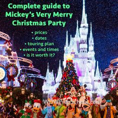 I think we should do this on the day we go to Disney Studios or Animal Kingdom! Guide to Mickey's Very Merry Christmas Party for 2015 Disney World Resorts, Disney Parks, Disney World Trip, Disney Fun, Disney Vacations, Disney Ideas, Disney 2015, Disney Tips, Disney Family