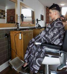 short hair and similar Short Shaved Hairstyles, Undercut Hairstyles Women, Short Hair Undercut, Cool Hairstyles, Haircuts, Buzz Cut Women, Short Hair Cuts For Women, Short Hair Styles, Buzz Cuts