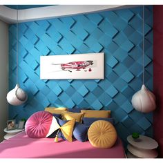 3D Wall Panels Plant Fiber Space Design (10 Panels Per Box) - Overstock™ Shopping - Top Rated Wall Paneling