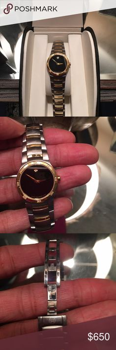 Ladies Movado watch Ladies two-tone stainless steel Movado Watch..Mint condition! Comes with original box, authenticity card & manual. Movado Accessories Watches