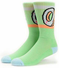 Odd Future Donut Green Crew Socks at Zumiez : PDP