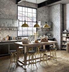#cuisine #décoindustrielle #kitchen