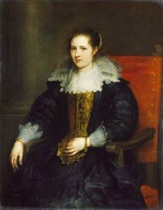 Isabella Waerbeke - Anthony van Dyck.  1628.  Oil on canvas.  119.7 x 94.2 cm.  The Wallace Collection, London, UK.