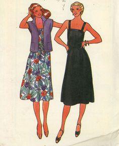 1980s Butterick 6521 Misses' Jacket, Dress and Belt Size 12 Uncut - Women