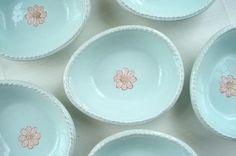 Pottery Sweet posie dishes