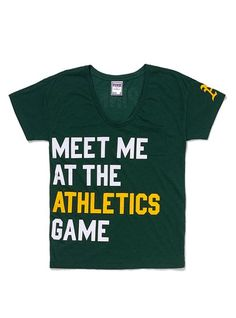 Oakland Athletics Boyfriend Tee - Victoria s Secret PINK® - Victoria s  Secret Baseball Onesie e9dd94922