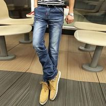 The item is casual jeans for men. The material is very soft and comfortable. Classic pure colour and straight style design. It absolutely can show your personal charm. There are only one colour for choosing, as pictures shown. Perfect option for you, act now.   Features: * Name of item: Casual...