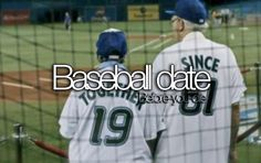 This pic is just to cute. This old couple on a baseball date with matching baseball shirts. And they have been together since. 1961 .now thats love.