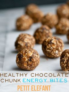 healthy chocoloate chunk energy bites