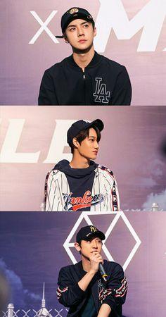 Sehun Chanyeol Kai & MLB #exo #mlb #sehun #kai #chanyeol Exo Chanbaek, Baekhyun Chanyeol, Exo Ot12, Kris Exo, Exo K, Exo Official, Exo Lockscreen, My Big Love, Exo Members