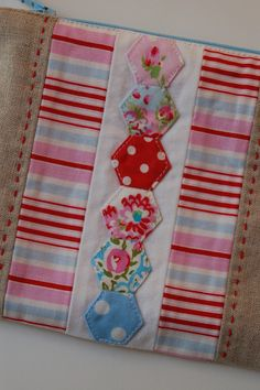 Hexi #hexie #hexi #hexagons on pillowcases and/or quilt/blanket tops..