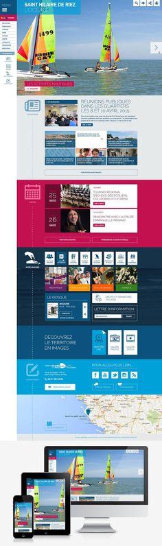 Refonte du site web de la mairie de Saint-Hilaire-de-Riez (85) : #Webdesign #Responsive #Mairie #Ville #Colterr : www.sainthilairederiez.fr