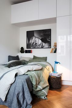 Downstairs is the guest room | Bedroom | Small space idea | elledecoration