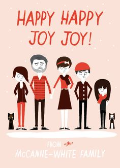 Custom Christmas Card - Christmas family portraits Card. via Etsy.