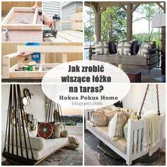 Hokus Pokus Home: Wiszące łóżko na taras DIY - jak samemu zrobić sof...