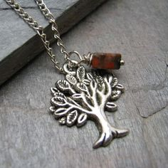 Mother Nature's Valentine Tree of Life Necklace with by riskybeads, $14.95