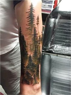 20 Ideas For Nature Tattoo Sleeve Forests Trees Beautiful, My Favorite, Forest Tattoo Sleeve, Nature Tattoo Sleeve, Wolf Tattoo Sleeve, Forest Tattoos, Sleeve Tattoos For Women, Tattoo Sleeve Designs, Tattoo Nature, Ink Tattoo, Shadow Tattoo