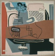 Nature morte, 1954 Wool tapestry  Dimensions : H : 2,26 m x L : 2,30 m Signed at bottom left Le Corbusier, not dated, executed in 1954 Paris. Fondation Le Corbusier