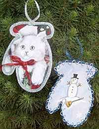 Once again.. Use This Yr's Card's For Next Yr's Ornaments.. & As easy as Tracing a Shape around a Favorite Picture.. Putting glue around the Edge & Sprinkling Glitter on it!! :)