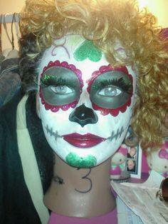 Proud of myself, fantasy makeup at school :)