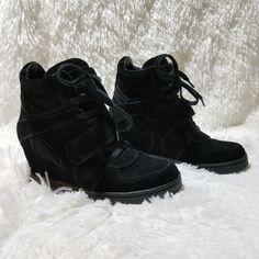 03e7aa75821820 Ash Shoes   Ash Sneaker Wedge Size 39 - Us Size 9   Color: Black   Size: 9