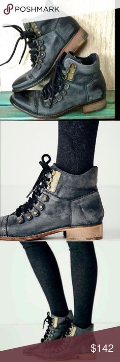 """Free People """"Collection"""" Ventura Hiker Boot FP Collection Ventura Hiker Boots are coveted for their signature cutting edge aesthetic.   🏷Pre-loved, Loved gently: Wore 2x w/minor wear  🏷MSRP: $178.00 🏷SIZE: 40 (RUNS SMALL)   ♦️FIRM  ☮️Vintage inspired STYLE reflects the look of an aged wear with the scuffing, marking and washed effects. ☮️Lace-up washed leather  ☮️Hand stitched leather soles  ☮️Natural vegetable tanned leather will soften and mold with each wear  ☮️Imported   Ⓜ️Heel: 1.37""""…"""