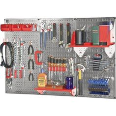 Wall Control Slotted Pegboard Industrial Workstation Accessory Kit  Red Mod * More info could be found at the image url.