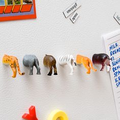 cute - would be fun with dinosaurs too =)hangers for coats, toys, belts, etc.