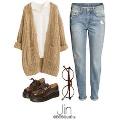 Vintage Shopping with Jin by btsoutfits on Polyvore featuring Chicnova Fashion, H&M, WithChic, Retrò and vintage