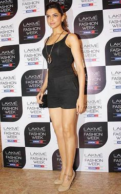 Deepika Padukone made heads turned in her tank top and black shorts look at the Lakme Fashion Week last year. #Bollywood #Fashion