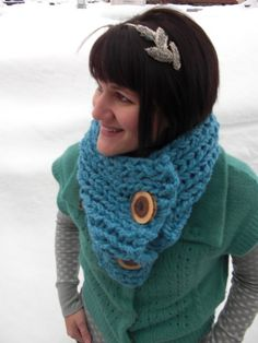 I love this chunky scarf!
