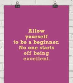 Allow yourself to be a beginner! This is so important for intense sports like pole  because there is so much strength that we have to accumulate little by little.