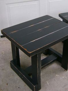 black distressed coffee table and two end tables price reduced u2014 vintage farm