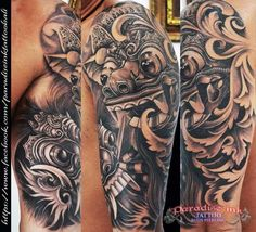 Balinese masks tattoo