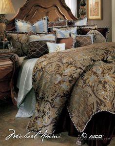 Michael Amini Portofino 13 pc King Comforter Set in Brown by AICO Amini http://www.amazon.com/dp/B004LZDJZS/ref=cm_sw_r_pi_dp_H4OCvb1FGMX3S