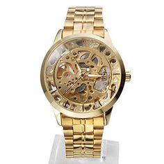 Gold Men's Alloy Analog Mechanical Casual Watch $19.67