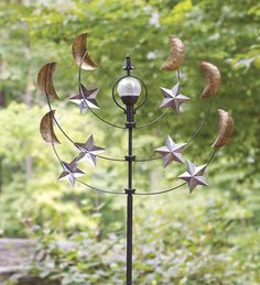 Solar Stars And Moons Garden Wind Spinner