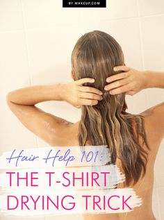 The t-shirt hair drying trick you NEED to know! #hair