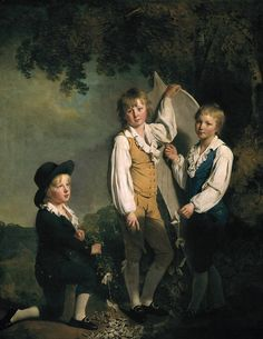 Joseph Wright of Derby - Three Children of Richard Arkwright with a Kite