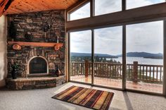 Big Bear Cabin #14 Windsong Lodge 4Bed/3 Bath. To Book call (310) 800-5454 or click the image! #bigbear #california #cabin #5starvacation #bedroom #fireplace #lakeview #deck