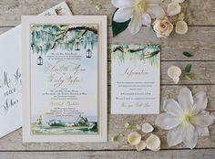 Painted Landscape Wedding Invitations-Momental DesignsMomental Designs
