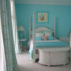 beach house in the city: beachy turquoise rooms - guest post!