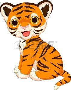 Cute baby tiger cartoon vector image on VectorStock Cartoon Kunst, Cartoon Drawings, Cartoon Art, Animal Drawings, Cute Drawings, Cartoon Tiger, Baby Cartoon, Cute Cartoon, Tiger Illustration