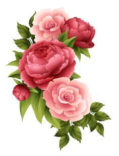 Victorian Flowers, Vintage Flowers, Baby Clip Art, Beautiful Flowers Wallpapers, Flower Phone Wallpaper, Rose Pictures, Decoupage Vintage, Botanical Drawings, Botanical Flowers