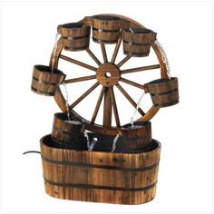Product: Wagon Wheel Fountain;Price: $149.97 (25% Off);Date: 8/10/2015