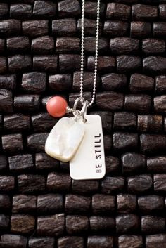 Be Still Necklace Christian Necklaces Hand Stamped by therhouse, $40.00